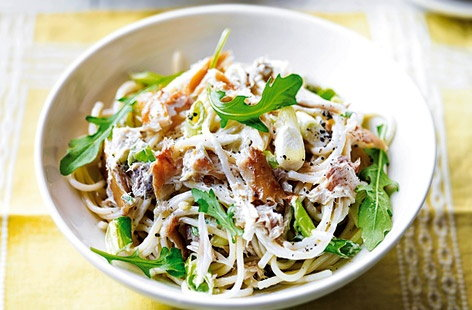 Mackerel and rocket pasta recipe