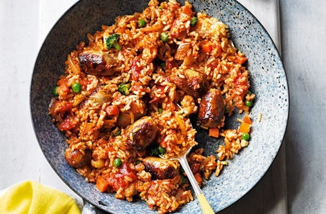 Chicken and chorizo jambalaya recipesbnb good food recipes healthy chicken and chorizo jambalaya recipe forumfinder Images