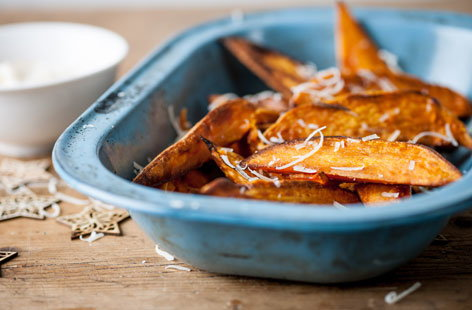 (t)Sweet potato chips iwth mango creme fraiche GBC TESCO
