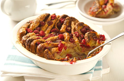 (h)almond milk brioche bread and butter pudding TESCO