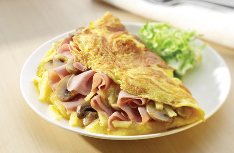 ham and cheese omlette HERO