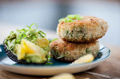 (t)fish cakes and avocado Great British Chef TESCO