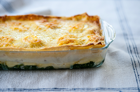 Mark Dodson's fish lasagne with cheesy topping