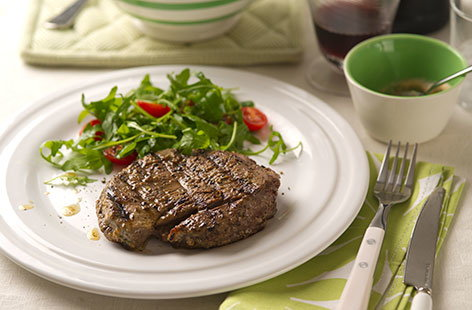 (t)grilled steak with garlic yoghurt marinade TESCO