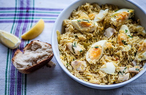 (h)kedgeree with boiled eggs Great British Chef TESCO