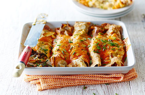 (h)mushroom and leek crepe bake TESCO
