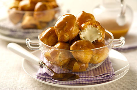 (t)profiteroles with cardamon creme fraiche TESCO