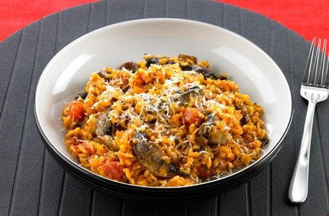 Tomato And Mushroom Risotto Tesco Real Food