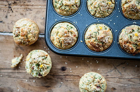 (h)sweetcorn and tomato muffins Great British Chef TESCO