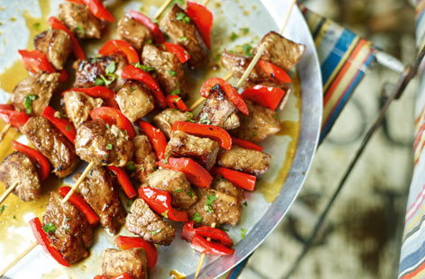 These marinated Korean pork skewers use lean pork fillet for a healthier summer option