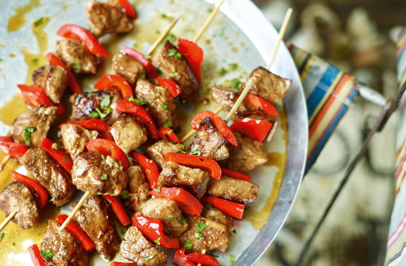 Korean pork skewers recipe
