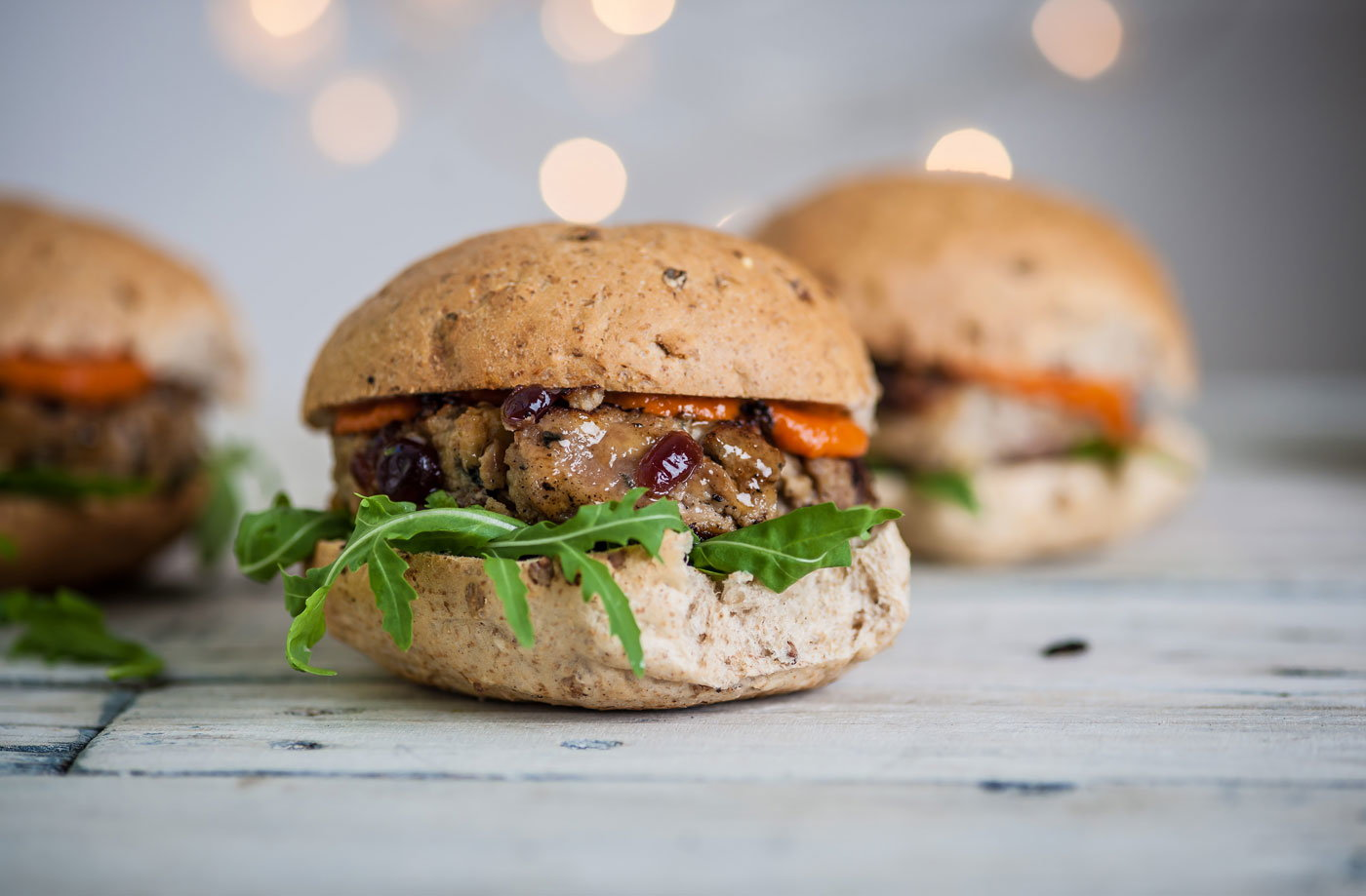 Galton Blackiston's cranberry stuffing and pork burgers recipe
