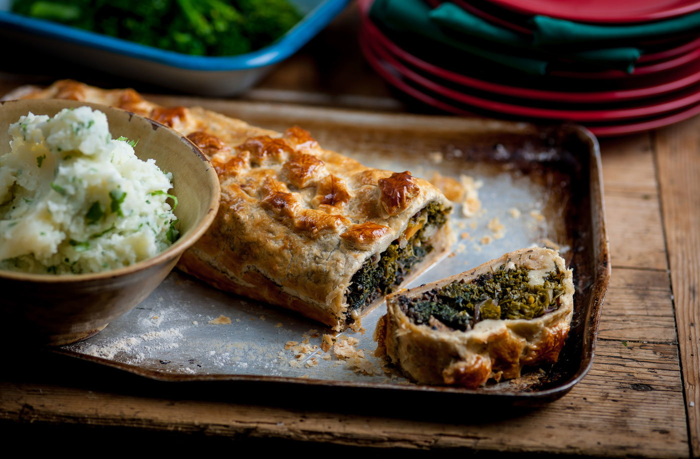Andy Waters' veggie Wellington with herby mash recipe