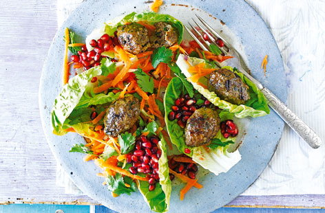 Bring the taste of the Middle East to your dining table with this mouthwatering lamb kofte salad