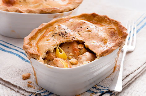 Chicken and leek pot pies recipe