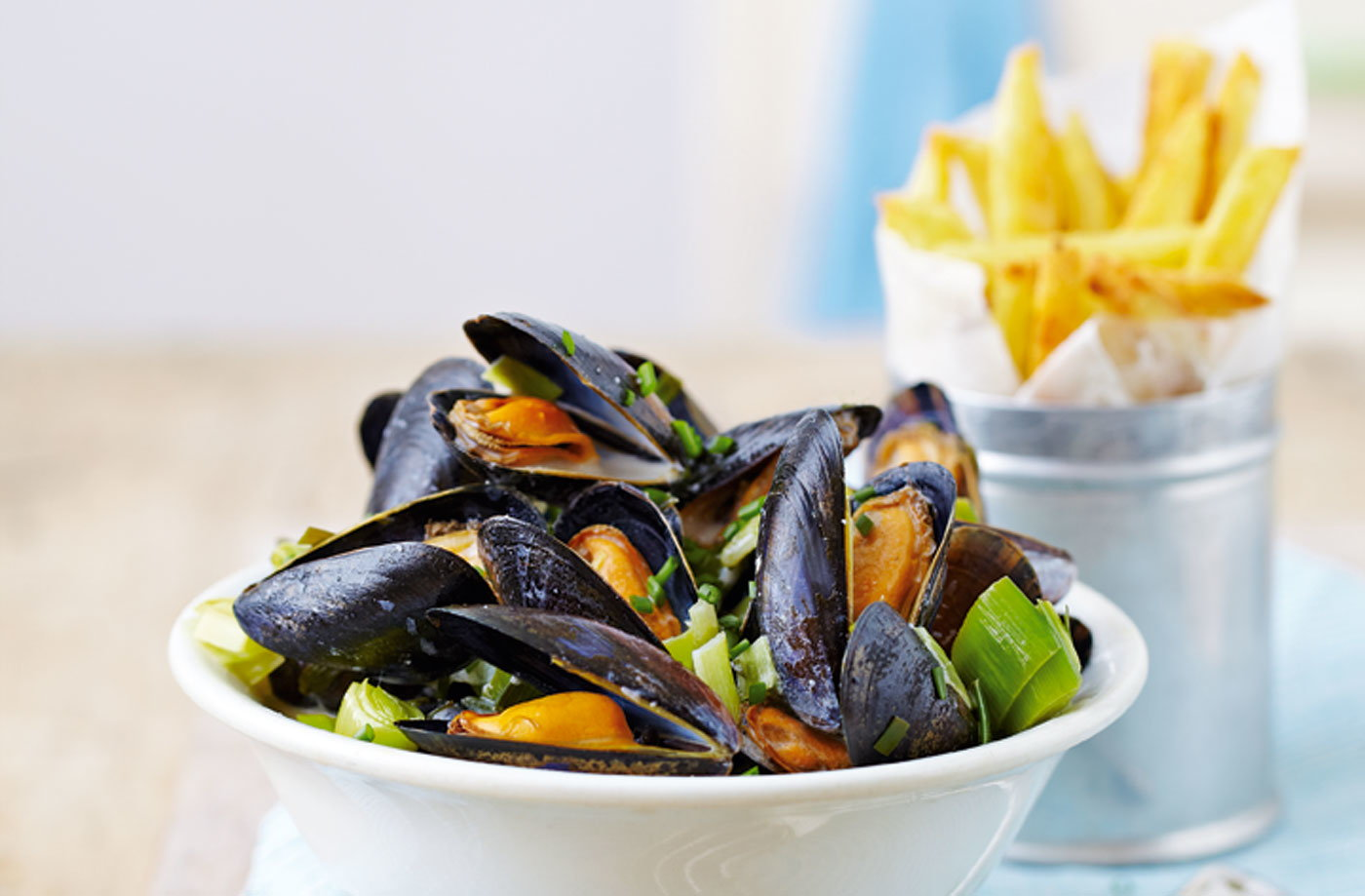 leek chive cider Mussels(t)