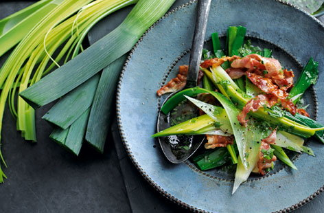 leeks with bacon (h)