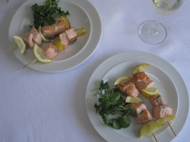 lemon salmon kebabs