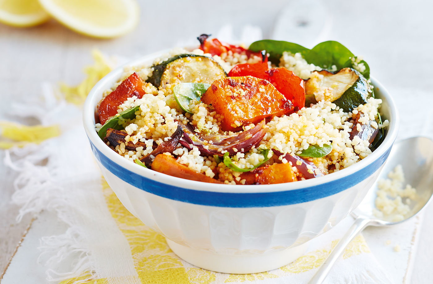 Harissa-spiced vegetable couscous recipe