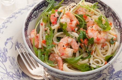 linguine with prawns HERO