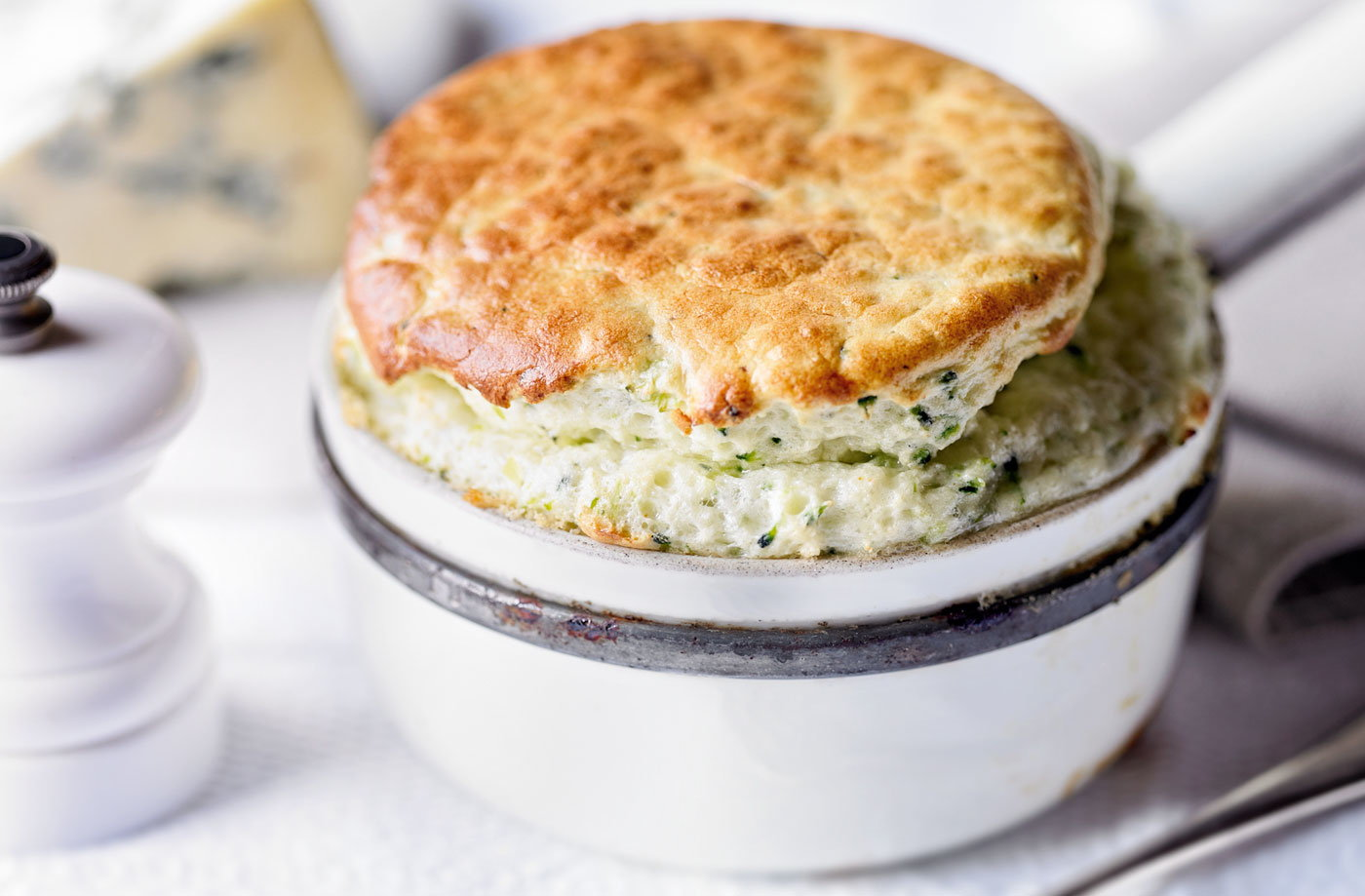 Broccoli and stilton soufflé recipe