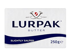 Lurpak Slightly Salted ButterWith its legendary subtlety and freshness, this butter enhances any dish