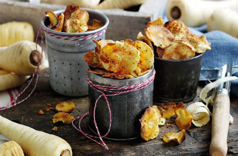 This easy recipe transforms your earthy and sweet parsnips into a crunchy snack with the warming flavour of paprika