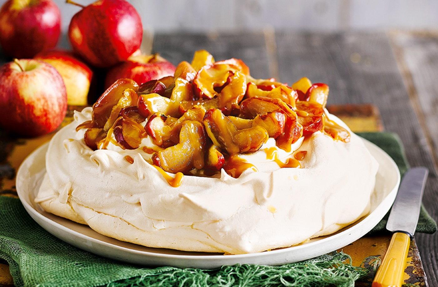 Autumn apple Pavlova recipe