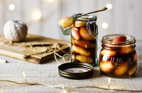 This a great way of using up leftover shallots – and it's really simple, too. Malt vinegar and honey give it that distinctive tangy taste. One thing's for sure, it'll be hard to go back to shop-bought pickled onions after you've made these.