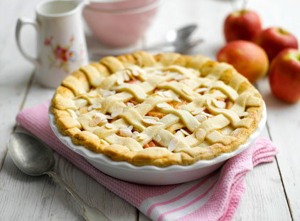 pink lady apple elderflower almond pie (t)