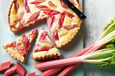 Rhubarb custard tart recipe