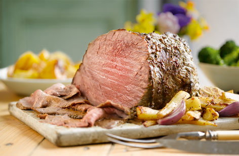 roast beef with root veg(t)
