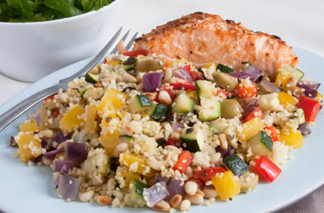 Salmon couscous
