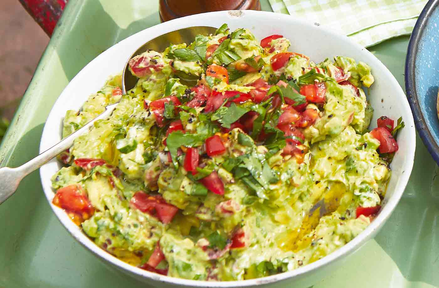 Smashed avocado dip