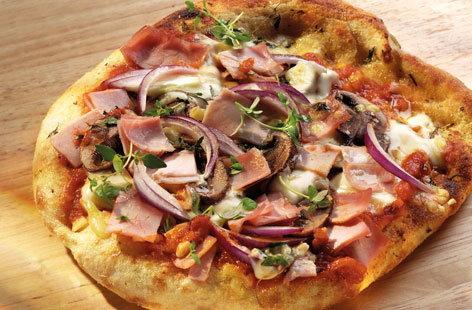 smoked ham pizza HERO