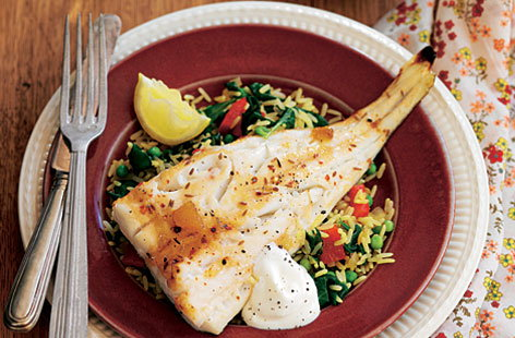 spiced cod with lemon HERO