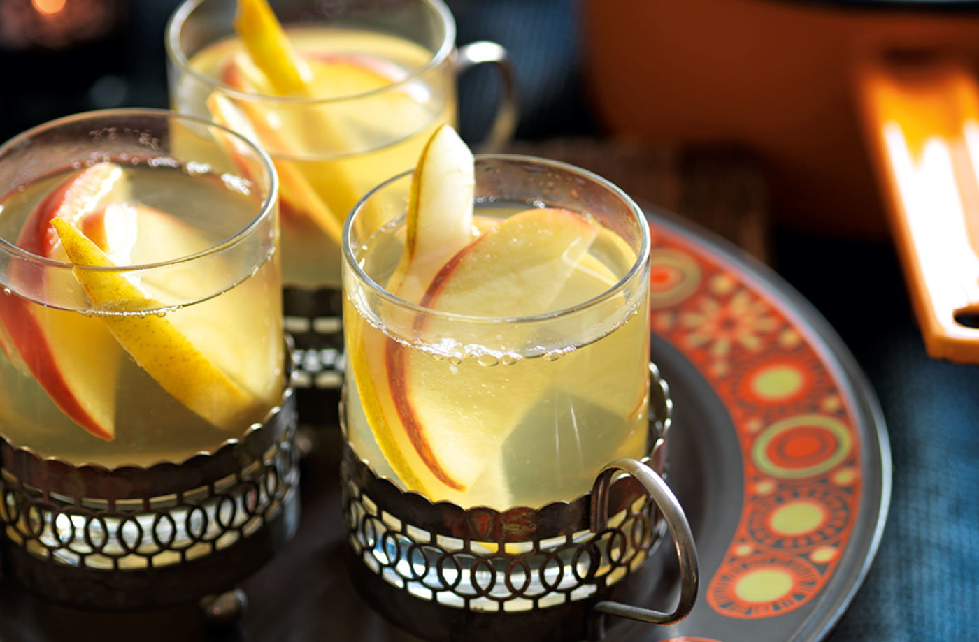White wine spiced apple and pear punch recipe