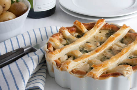 spinach chicken and gruyere pie 1