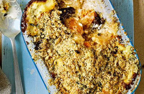 squash and celeriac crumble (h)
