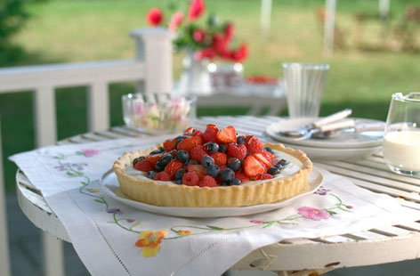 summer berry tart hero