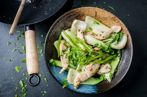 Shaun Rankin's sweet chilli chicken with garlic, lemon and coriander