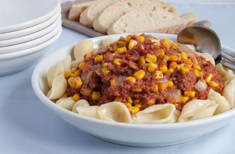 Recipe for corn beef pasta
