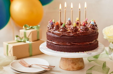 How to bake a 1-hour chocolate birthday cake