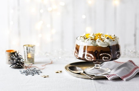 Chocolate orange trifle