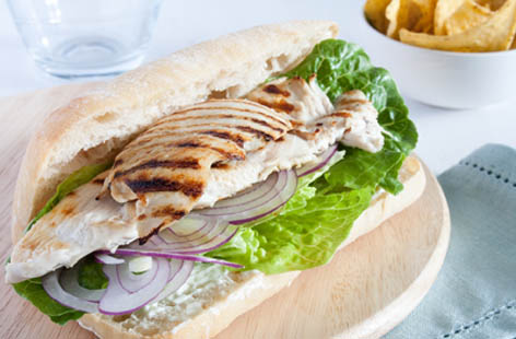 warm chicken sarnie 1