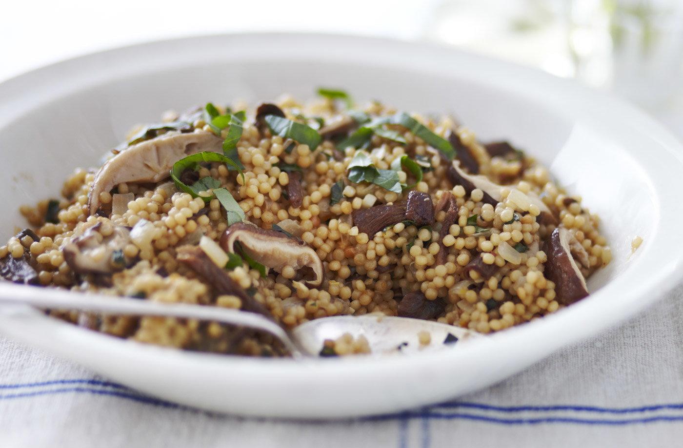 Wild mushroom Israeli couscous | Tesco Real Food