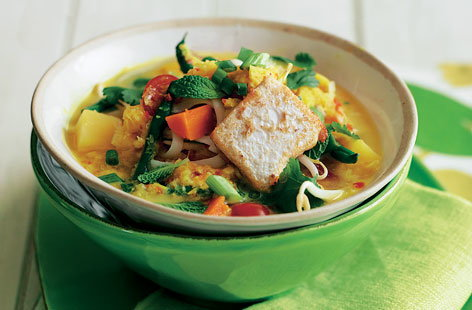 Winter vegetable laksa